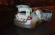 BPFRON apreende carro carregado com cigarros contrabandeados e prende um homem em Missal