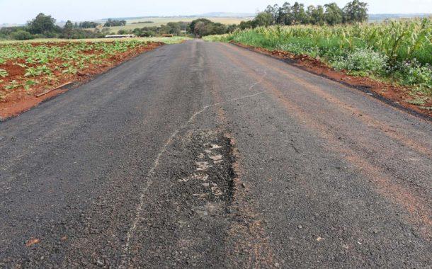 Empresa irá refazer asfalto que foi reprovado pelos fiscais de obra em Santa Helena