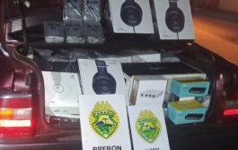 Ação conjunta resulta na apreensão de veículo carregado de contrabando em Matelândia