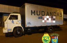 BPFRON recupera caminhão de trabalhador que foi roubado em Ouro Verde do Oeste- PR antes mesmo da queixa da vítima