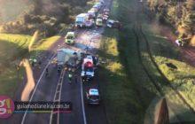 Céu Azul: Cinco pessoas ficam gravemente feridas em acidente na BR 277