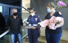 Socorrista do SAMU de Itaipulândia que ajudou a salvar vida em acidente na Br-277 é homenageada