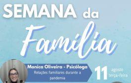 Covid-19 é tema de palestra virtual hoje (11) na semana da família em Santa Helena