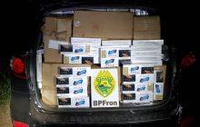 BPFron apreende veículo carregado com cigarros em São José das Palmeiras