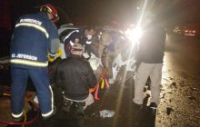 Seis pessoas são socorridas após grave acidente