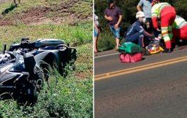 Homem tem braço e perna amputados em acidente na BR 277 em Céu Azul