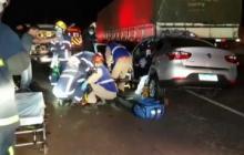 Corpo de mulher vítima de acidente na BR-467 é encaminhado ao IML