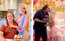 Governador realiza festança com linda mulher enquanto povo passa fome