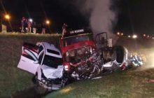 Tragédia: Casal morre carbonizado em grave acidente na BR-277
