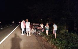 Motociclista é socorrido em estado grave após colisão traseira na BR 277