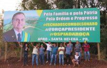 Outdoor em apoio ao presidente Bolsonaro é oficialmente 'inaugurado' em Santa Helena