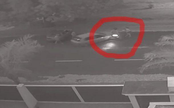 Vídeo mostra momento do atropelamento de casal em Itaipulândia