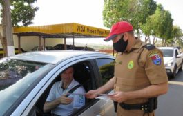 PRE e Ciretran de Santa Helena realizam blitz educativa na Semana Nacional do Trânsito
