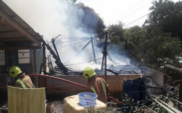 Incêndio destrói residência no interior de Missal