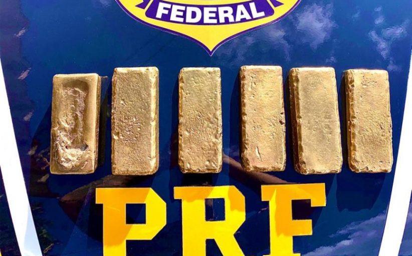 PRF apreende R$ 2 milhões em barras ouro, em Medianeira