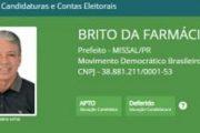 Justiça Eleitoral defere segunda candidatura à Prefeito de Missal