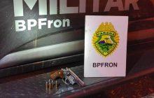 BPFRON apreende revólver ilegal em Itaipulândia
