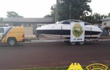 Lancha furtada em Cascavel é recuperada; Camionete e reboque foram localizadas em Santa Helena
