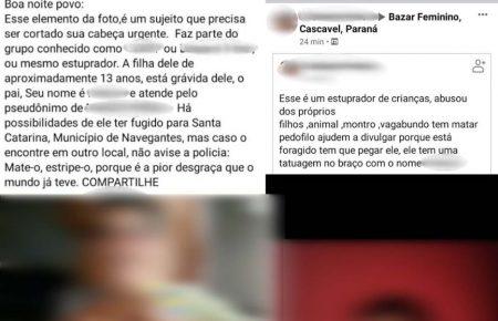 Publicação denuncia suposto abuso sexual de pai contra filhos; Menina de 13 anos estaria grávida