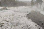 Granizo atinge Oeste de SC e causa prejuízo em plantações