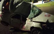 Condutor morre após atingir árvore às margens da BR 277, em Céu Azul