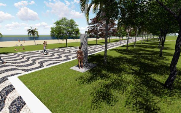 Obras de revitalização do Balneário Santa Helena contemplam a 'praia velha e nova'