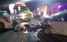 Veículos colidem frontamente na BR-277 em Céu Azul; Sete feridos no local