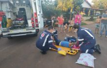 Acidente em Santa Helena deixa homem com ferimentos