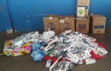 BPFRON apreende 500 pacotes de cigarros contrabandeados em distrito de Santa Helena-PR