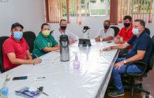 Representantes da Itaipu Binacional se reúnem com prefeito e vice de Missal para tratar sobre a continuidade dos programas e parcerias