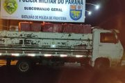 Entre Rios do Oeste: BPFRON apreende caminhão carregado com cigarros contrabandeados
