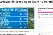 Acisa apoia petição para baixar preços de pedágios no Estado do Paraná