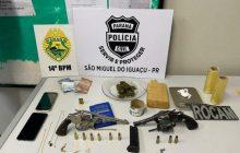 Operação da PM e PC resulta em prisões e apreensão de drogas e armas em SMI e Itaipulândia
