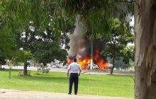 Avião da Força Aérea cai e deixa vários mortos