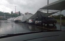 Medianeira e região: Moradores registram chuva de granizo e vendaval