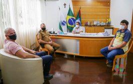 Comandante da Polícia Rodoviária Estadual, Bottini visita o município de Missal