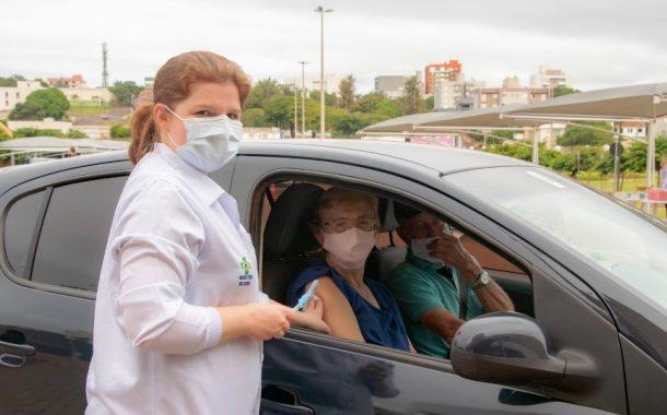 Em Medianeira 1.287 idosos de 69 a 74 anos foram vacinados no fim de semana