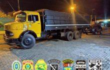 Caminhão carregado com contrabando é apreendido em Santa Helena - PR