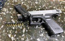 PRE de Santa Helena apreende pistola Glock após grave acidente