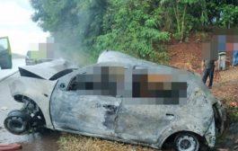 Duas pessoas morrem carbonizadas em grave acidente na BR 277
