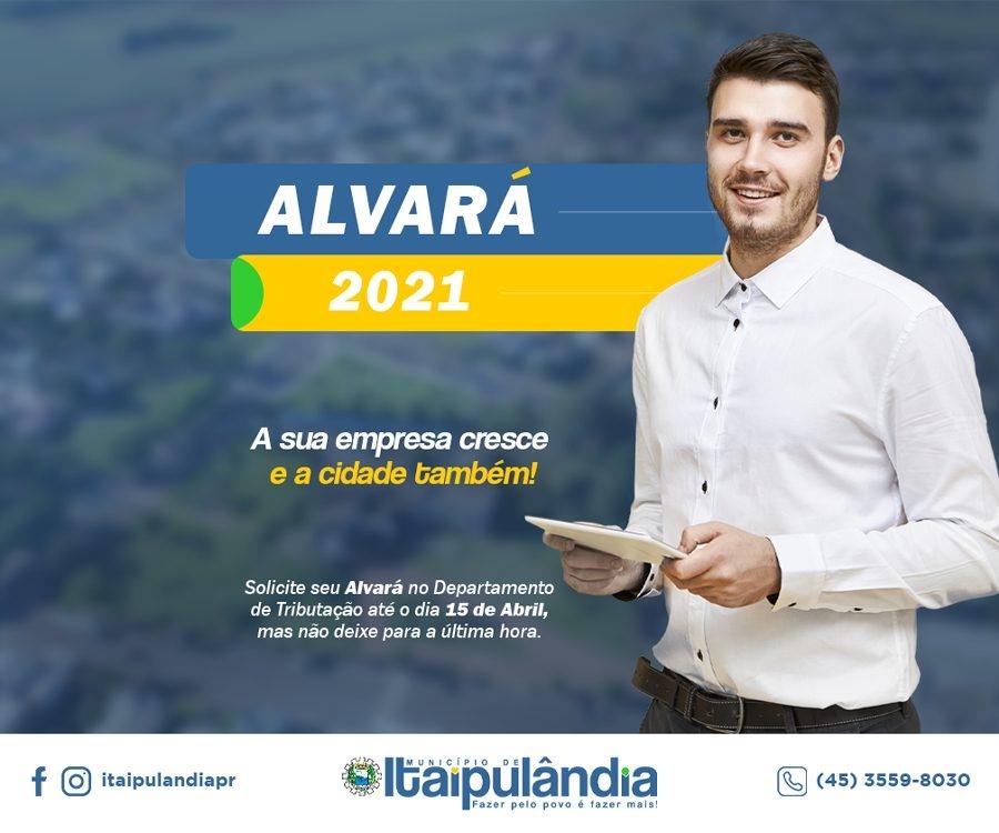 ITAIPULANDIA ALVARÁ MES MARÇO