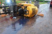 Acidente com empilhadeira deixa operador ferido em São Miguel do Iguaçu