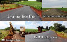 Estradas em Itaipulândia seguem sendo asfaltadas