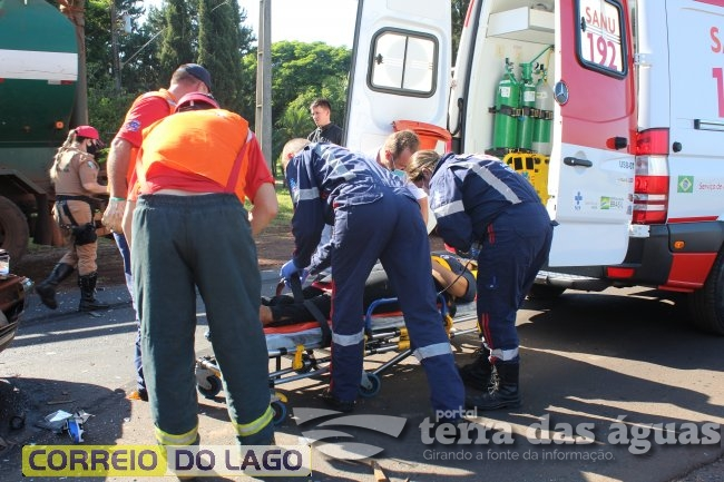 Acidente de trânsito é registrado na PR 488 que liga Esquina Céu Azul a Santa Helena; uma pessoa ficou ferida