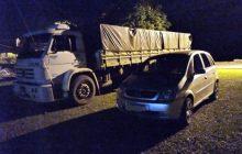 Policiais apreendem caminhão carregado de cigarros em Santa Helena