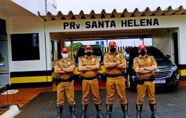 (VÍDEO) Comandante da PRE no Paraná faz visita de inspeção no Posto de Santa Helena
