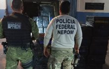 BPFRON e NEPOM/POLÍCIA FEDERAL apreendem veículo carregado com cigarros contrabandeados na cidade de Itaipulândia/PR