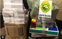 BPFron apreende contrabando em ônibus na cidade de Medianeira