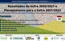 IDR Paraná realiza na próxima sexta feira evento com foco na avaliação e divulgação de ações e tecnologias voltadas para a safra de Soja e milho 2021/22