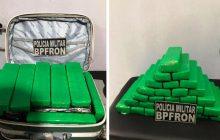 BPFRON apreende 28 tabletes de maconha em ônibus na cidade de SMI